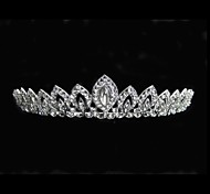Women's Rhinestone / Alloy Headpiece-Wedding Tiaras Clear