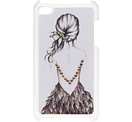 Back of Girl Padrão Hard Case com strass para iPod Touch 4