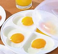 coração em forma de microondas molde bandeja de ovos