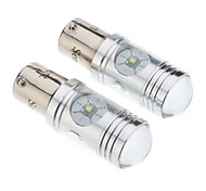 1156 12W White Light Cree LED Bulb for Car Brake/Reversing Lamp (DC 12-24V, 1-Pair)