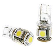 T10 1W luz blanca 5x5050SMD Bombilla para Instrumentos / Side Car Luces de posición (DC 24V, 1 par) LED