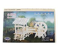 DIY di legno 3D Mulino House Style Puzzle (3 pezzi)