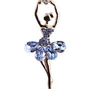 Eruner®Alloy Crystal Dancer Pattern Brooch(Assorted Colors)