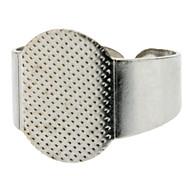 15mm Plane Metal Shell Adjustable Ring