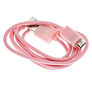Pink USB Male to Micro USB Male Cable for Samsung and Other Smart Phone (20cm)
