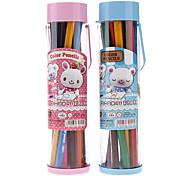 12 Colors Wooden Colored Pencils with Portable Box Set (Random Color)