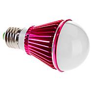 Ampoules Globe Blanc Chaud E27 5 W 5 LED Haute Puissance 420-450 LM 3000-3500 K AC 85-265 V