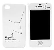Jungfrau-Muster-harter Full Body Case für iPhone 4/4S