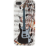 Black Guitar Pattern Hard Case for iPhone 5/5S