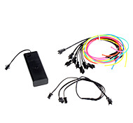 6 Meter Flexible Car Decorative Neon Light 2.3mm EL Wire Rope with Battery Power Supply