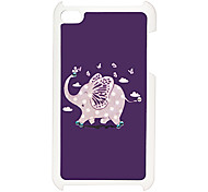 Lovely Elephant Pattern Hard Case with Rhinestone for iPod Touch 4