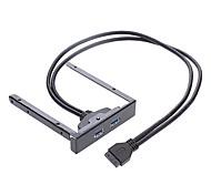 USB 3.0 del panel frontal, Soft Drive USB 3.0 Tarjeta de extensión 19P/20P a 3,0 Cable USB (0,6 m)