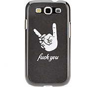 Finger Pattern Hard Case for Samsung Galaxy S3 I9300