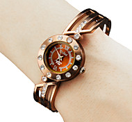 Fashional en métal de style analogique bracelet montre femme quartz (bronze)