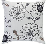 Country Floral Printing Polyester Decorative Pillow Cover