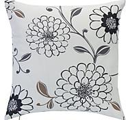 País Floral Impressão Polyester fronha decorativa