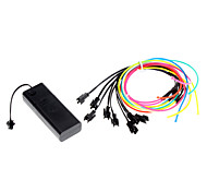 1 Meter Flexible Car Decorative Neon Light 2.3mm EL Wire Rope with Battery Power Supply