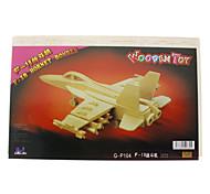 DIY di legno 3D F-18 Hornet Bomber Style Puzzle (2 pezzi)