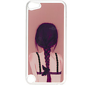 Back of Woman Pattern Hard Case with Rhinestone for iPod Touch 5