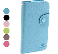 For Samsung Galaxy Case Wallet / Card Holder / Flip Case Full Body Case Solid Color PU Leather Samsung Grand