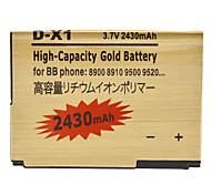 OME Cell Phone Battery for Blackberry 8900/8910/9500/9520/9530/9550/9630/9650 (3.7V, 2430mAh)