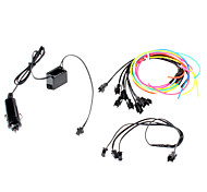 6 Meter Flexible Car Decorative Neon Light 2.3mm EL Wire Rope with Car Light Inverter