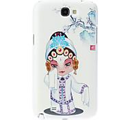 Opera cas dur de modèle de femme pour Samsung Galaxy Note N7100 2