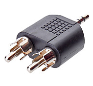 Audio de 3,5 mm a 2 RCA m / m adaptador
