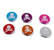 Decorated Aluminum Skull Pattern Button Home Button Accessory(6PCS)