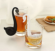 Swan Shaped Teaspoon Tea Strainer (Random Color)