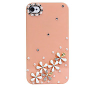 Zircon Daisy Pattern Hard Case for iPhone 4/4S