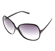 Women's Gradient Blue Lens Black Frame Butterfly Sunglasses
