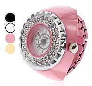 Unisexe en alliage à quartz analogique montre d'anneau (couleurs assorties)
