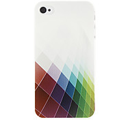 Rejilla estuche rígido modelo colorido hermoso para el iPhone 4/4S