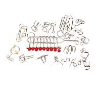 Meccanica cinese 18-in-1 Ferro Nove Iscritto Puzzle Rings Set