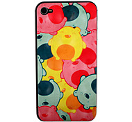 Cute Bear Pattern Front and Back Screen Protector for iPhone 4/4S
