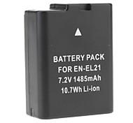 New EN-EL21 ENEL21 Batterie appareil photo Nikon Nikon 1 V2 V2 (7.2V 1485mAh)