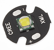 Cree XML-T6 White 16mm LED Lamp Bulb(Black)