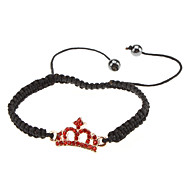 Crown Metal Set Auger Woven Bracelet