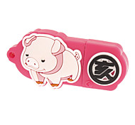 8GB Pink Pattern Cerdo encantadora con Terrestre Poder USB2.0Flash Drive