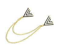 Banhado a ouro Alloy Acrílico Triângulo Padrão Broche (cores sortidas)
