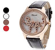 Leopard Estilo PU Quartz analógico relógio de pulso da Mulher (cores sortidas)