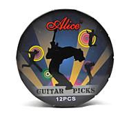 Alice - Dark Blue Round Picks Metal Box with 12 Picks