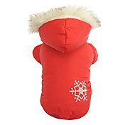 Dog Coat / Hoodie Red / Brown Dog Clothes Winter Snowflake Christmas / Keep Warm