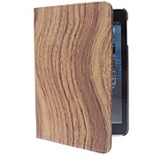 Rotatable Wave Shape Wood Grain Case w/ Stand for iPad mini 3, iPad mini 2, iPad mini