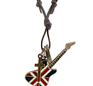 Flag Guitar Accessories Combination Leather Cord Necklace