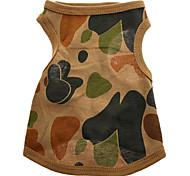 Montuoso Regione Camouflage modello puro cotone della maglia per i cani (XS-L)