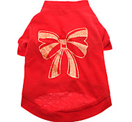Hunde T-shirt Rot Hundekleidung Sommer Schleife
