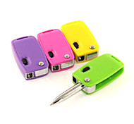 Multi-Function Car Keys Light Blue Ink Ballpoint Pen(Random Colors)