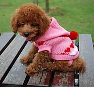 Gatti / Cani Maglioni / Felpe con cappuccio Nero / Bianco / Blu / Rosa Abbigliamento per cani Inverno Cuori